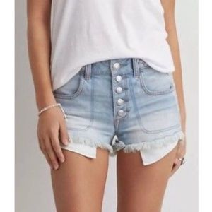 American Eagle | High Rise Shortie Denim Shorts